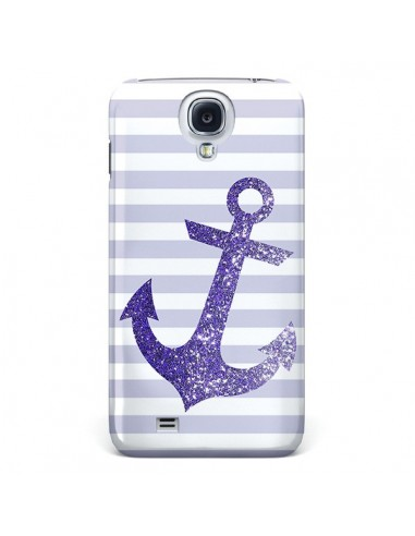 Coque Ancre Violet Navire pour Samsung Galaxy S4 - Monica Martinez