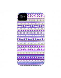 Coque Bandana Violet Azteque pour iPhone 4 et 4S - Monica Martinez
