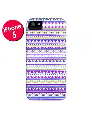 Coque Bandana Violet Azteque pour iPhone 5 et 5S - Monica Martinez