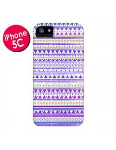 Coque Bandana Violet Azteque pour iPhone 5C - Monica Martinez