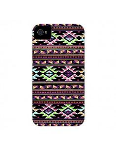 Coque Black Aylen Azteque pour iPhone 4 et 4S - Monica Martinez