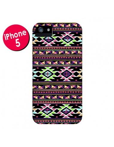 Coque Black Aylen Azteque pour iPhone 5 et 5S - Monica Martinez