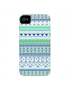 Coque Chenoa Bleu Azteque pour iPhone 4 et 4S - Monica Martinez