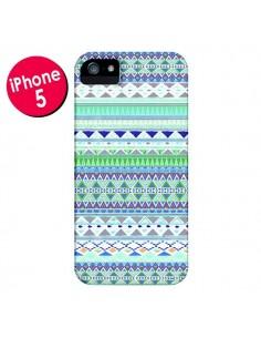 Coque Chenoa Bleu Azteque pour iPhone 5 et 5S - Monica Martinez