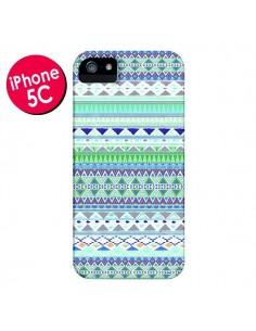 Coque Chenoa Bleu Azteque pour iPhone 5C - Monica Martinez