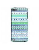 Coque Chenoa Bleu Azteque pour iPod Touch 5 - Monica Martinez