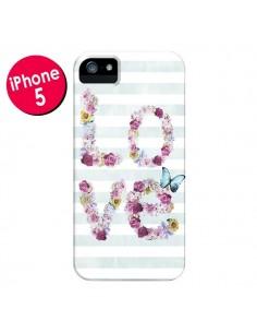 Coque Love Fleurs Flower pour iPhone 5 et 5S - Monica Martinez