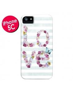 Coque Love Fleurs Flower pour iPhone 5C - Monica Martinez