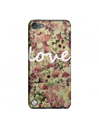 Coque Love Blanc Flower pour iPod Touch 5 - Monica Martinez
