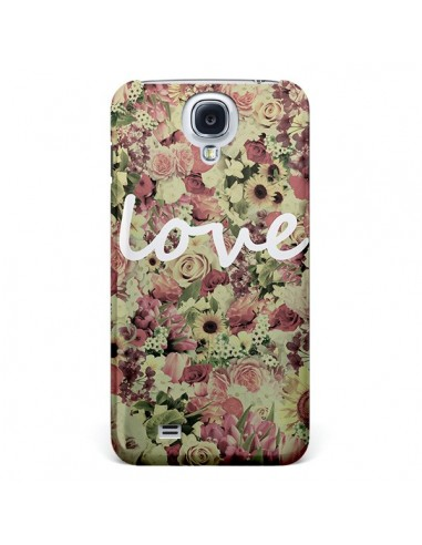 Coque Love Blanc Flower pour Samsung Galaxy S4 - Monica Martinez