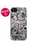 Coque Vintage Love Noir Flower pour iPhone 5 et 5S - Monica Martinez