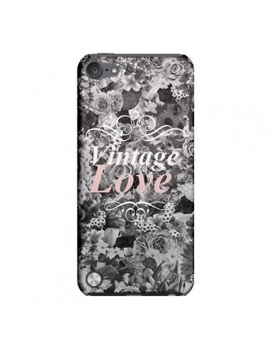 Coque Vintage Love Noir Flower pour iPod Touch 5 - Monica Martinez