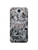 Coque Vintage Love Noir Flower pour Samsung Galaxy S4 - Monica Martinez