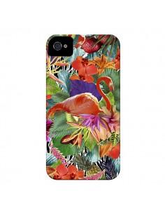 Coque Tropical Flamant Rose pour iPhone 4 et 4S - Monica Martinez