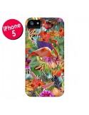 Coque Tropical Flamant Rose pour iPhone 5 et 5S - Monica Martinez