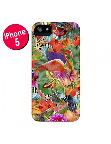 Coque Tropical Flamant Rose pour iPhone 5 et 5S - Monica Martinez
