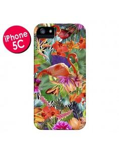 Coque Tropical Flamant Rose pour iPhone 5C - Monica Martinez