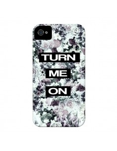 Coque Turn Me On Flower pour iPhone 4 et 4S - Monica Martinez