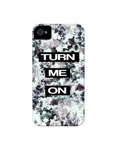 Coque Turn Me On Flower pour iPhone 4 et 4S - Monica Martinez
