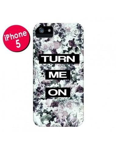 Coque Turn Me On Flower pour iPhone 5 et 5S - Monica Martinez