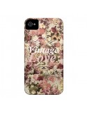 Coque Vintage Love Flower pour iPhone 4 et 4S - Monica Martinez