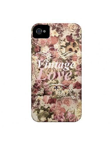 Coque Vintage Love Flower pour iPhone 4 et 4S - Monica Martinez
