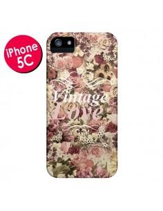Coque Vintage Love Flower pour iPhone 5C - Monica Martinez