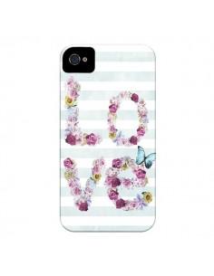 Coque Love Fleurs Flower pour iPhone 4 et 4S - Monica Martinez