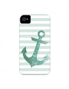 Coque Ancre Vert Navire pour iPhone 4 et 4S - Monica Martinez