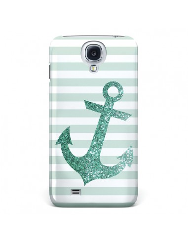 Coque Ancre Vert Navire pour Samsung Galaxy S4 - Monica Martinez