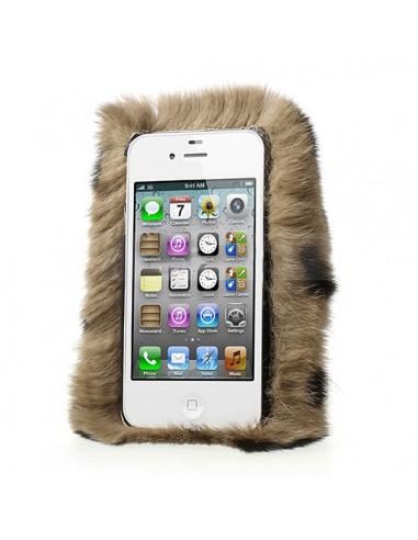 Coque iPhone 4 et 4S en Fourrure Leopard Ultra Douce