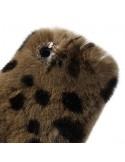 Coque en Fourrure Leopard Ultra Douce pour iPhone 4/4S