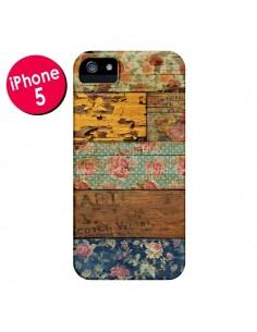 Coque Barocco Style Bois pour iPhone 5 et 5S - Maximilian San