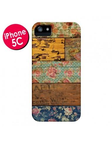Coque Barocco Style Bois pour iPhone 5C - Maximilian San