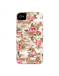 Coque Eco Love Pattern Bois Fleur pour iPhone 4 et 4S - Maximilian San