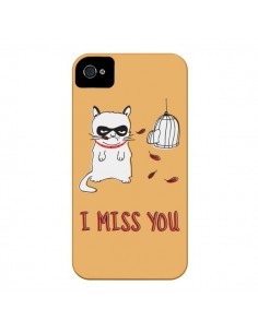 Coque Chat I Miss You pour iPhone 4 et 4S - Maximilian San
