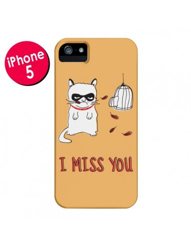 Coque Chat I Miss You pour iPhone 5 et 5S - Maximilian San