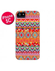 Coque India Style Pattern Bois Azteque pour iPhone 5C - Maximilian San