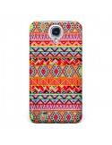 Coque India Style Pattern Bois Azteque pour Samsung Galaxy S4 - Maximilian San