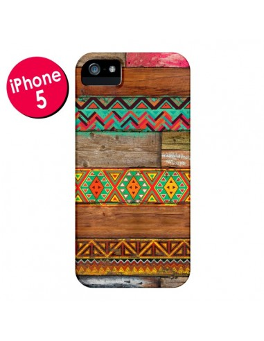 Coque Indian Wood Bois Azteque pour iPhone 5 et 5S - Maximilian San