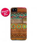 Coque Indian Wood Bois Azteque pour iPhone 5C - Maximilian San