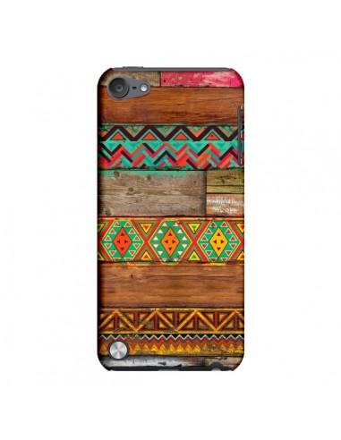 Coque Indian Wood Bois Azteque pour iPod Touch 5 - Maximilian San