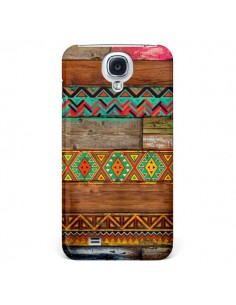 Coque Indian Wood Bois Azteque pour Samsung Galaxy S4 - Maximilian San
