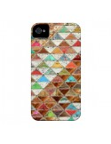 Coque Love Pattern Triangle pour iPhone 4 et 4S - Maximilian San