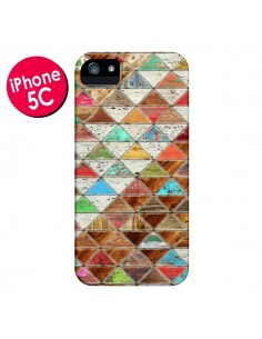 Coque Love Pattern Triangle pour iPhone 5C - Maximilian San