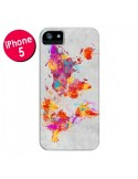 Coque Terre Map Monde Mother Earth Crying pour iPhone 5 et 5S - Maximilian San