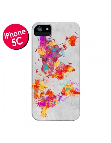 Coque Terre Map Monde Mother Earth Crying pour iPhone 5C - Maximilian San