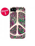 Coque Peace and Love Azteque Vainilla pour iPhone 5 et 5S - Maximilian San
