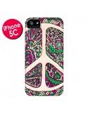 Coque Peace and Love Azteque Vainilla pour iPhone 5C - Maximilian San