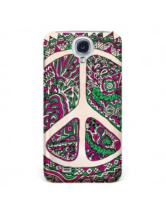 Coque Peace and Love Azteque Vainilla pour Samsung Galaxy S4 - Maximilian San